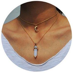 Opal Moon Choker Necklace